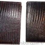 2-Italian-Style-lizard-Printed-Leather-mans-bi-fold-wallet-2-billfolds-8-card-264752398984