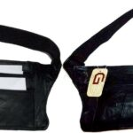 2-Flat-Leather-waist-pouch-waist-bag-leather-bag-Fanny-pack-Flat-pack-BNWT-264787759209